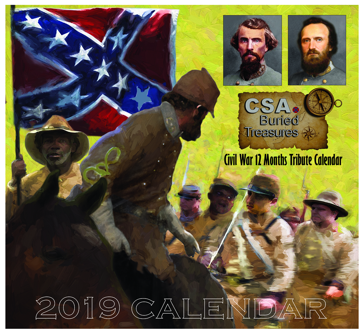 Black American confederates battle calendar